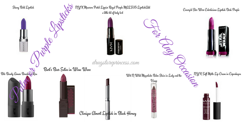 Pulm or Purple Lipsticks
