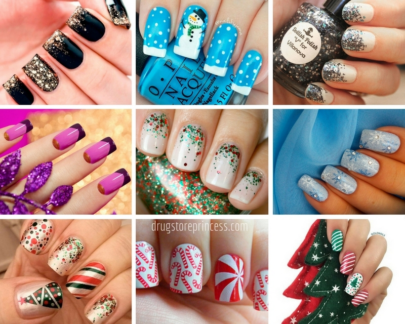 New years eve nails 2018 manicure ideas beautiful new years eve nails this is not only a one color winter design glitter and rhinestones vivid drawings will become an excellent addition to the prinsesfo Image collections