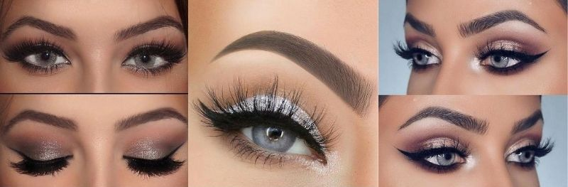 Wedding makeup for gray and gray-blue eyes