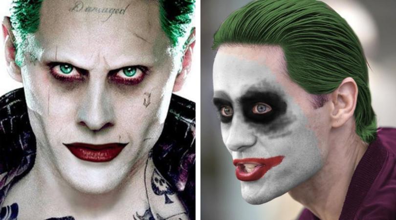 Jared Leto joker makeup